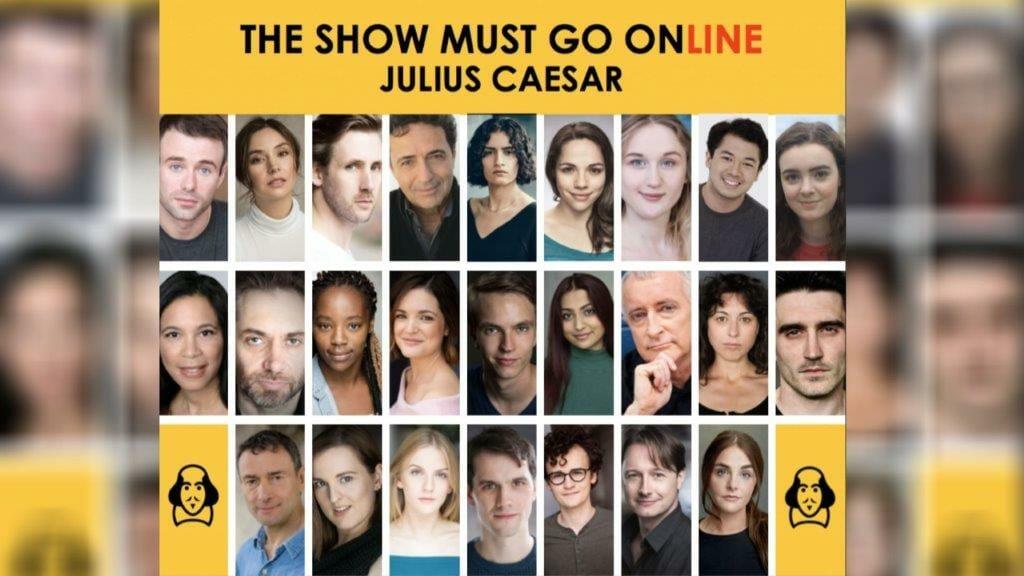 The Show Must Go Online Julius Caesar Cast