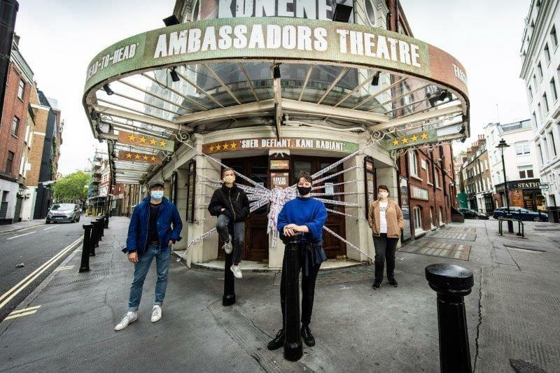 scenechange MissingLiveTheatre Ambassadors Theatre. photo by Helen Maybanks