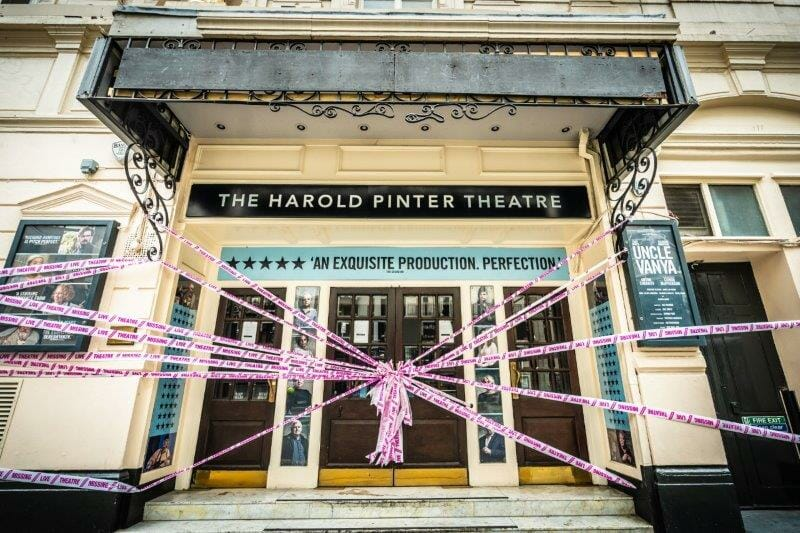 scenechange MissingLiveTheatre Pinter Theatre. photo by Marc Brenner