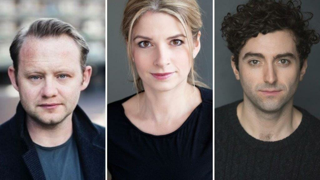 Michael Jibson Caroline Sheen and Marc Antolin Cast in Camelot
