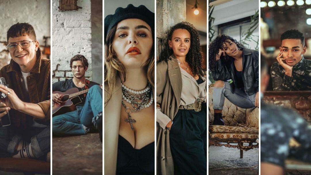 Cast of Rent at Hope Mill Theatre c. Dujonna Gift Simms