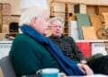 Oliver Ford Davies and Stephen Boxer in rehearsal for A Splinter of Ice credit James Findlay